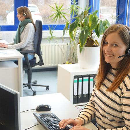 Mitarbeiter aus dem Kundenservice von VDS